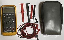 Fluke 87 Industrial True Rms Digital Multimeter With Accessories Amp Soft Case