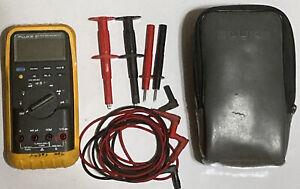 Fluke 87V Industrial True RMS Digital Multimeter W/ Accessories & Soft Case