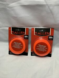 Lot of 2 - Allen Hunting Hiking Trail Marking Flagging Tape 150' Roll ORANGE G1