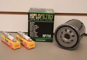 Harley Davidson Sportster XL 883 1200 Tune Up Kit Oil Filter & 2 NGK Spark Plugs