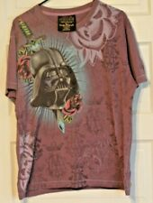 Star Wars Darth Vader t-shirt Mark Ecko - XL - roses - purple - tattoo style