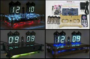DIY KIT Desk Clock IV-11 / IV-12 VFD Tube + Case + Remote + RGB Nixie Era!