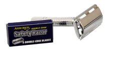 1 - Men's Traditional Classic Double Edge Chrome Shaving Safety Razor + 5 Blades