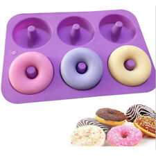 Silicone Donut Molds 6 Cavity Non-Stick Safe Baking Tray Maker Pan Heat Mold 1Pc