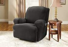 Stretch Pinstripe One Piece Recliner Slipcover | Form Fit sure fit new