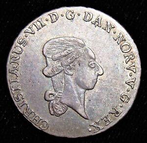 Norway: Christian VII 1/3 Speciedaler 1797-IGM, Mint Luster. AU.