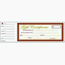 New listing Adams Gftbk1 25 Numbered Two-Part Gift Certificates / Vouchers Book Single Paper