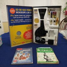 Gilbert Microscope & Lab Set Kit in Metal Case  13033 SEE PICS