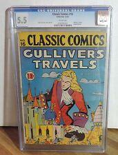 """CLASSIC COMICS #16  """"GULLIVER'S TRAVELS""""  CGC 5.5  ORIG. 1ST EDITION"""