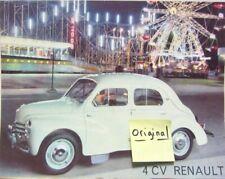 RENAULT 4 CV  FETE FORAINE CATALOGUE
