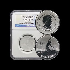 2014 Canada $20 Dollars (Silver) - NGC SP69 Summertime