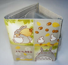 Japanese Anime My Neighbor TOTORO Grey Gray Stitch Wallet Triple Fold Coin Bag