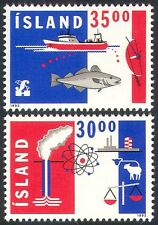Iceland 1992 Fish/Boat/Scales/Farming/Thermal/Nuclear Energy 2v set (n20275)