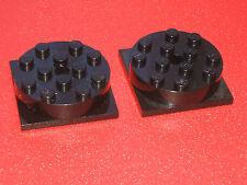 LEGO TECHNIC train/Grue tournante/rotatif plateau tournant X 2 Noir