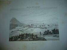 GRAVURE VILLE DE PRIVAS 1890