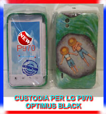 Custodia cover case SFONDO VERDE PESCATORI per LG Optimus black P970