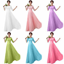 Women Formal Lace Long Maxi Dress Prom Evening Party Cocktail Bridesmaid Dresses