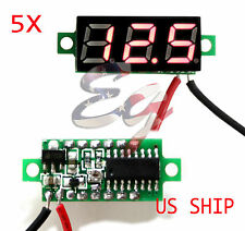 5X Red DC 0-30V LED Display Digital Voltage Voltmeter Panel Car Motorcycle
