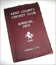 Vintage KENT COUNTY CRICKET CLUB Annual 1975 cloth bound Member's Copy