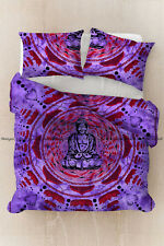 Indian Buddha Printed Mandala Duvet Doona Cover Quilt Cover Cotton Bedding Set