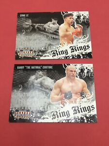 2 PROMO CARDS RANDY COUTURE CUNG LE 2008 Donruss Americana Ring Kings