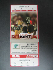 2008 Alabama vs Tulane Football Ticket Official Reproduction