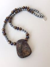 Tiger's Eye Necklace 16in Women's Necklace Made in USA