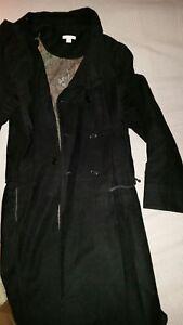 PUMA NUALA LADIES FEMALE BLACK THIN JACKET MAC COAT S 8 M 10