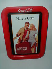 "1991 Coca Cola Soda Pop Red Serving Tray ""Have a Coke"" 1948 Ad"
