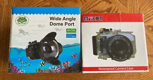 New Meikon 40m Underwater Camera Housing Sony A7 ii W/ Sea Frogs Dome Port