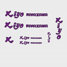 Kiyo Miyazawa Bicycle Decals, Transfers, Stickers - Purple n.3