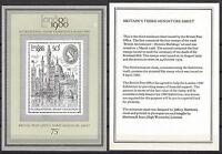 Great Britain 1980 LONDON INT STAMP EXHIB'N MinSheet Unhinged Mint SG MS1118