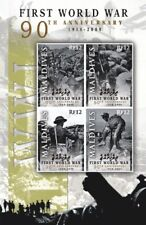 Maldives - First World War 90 Years of Remembrance Stamp - Sheet of 4 MNH
