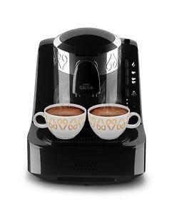 Arzum Okka OK002 Automatic Turkish/Greek Coffee Maker/Machine, Black/Silver