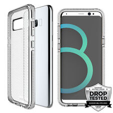 "Prodigee Safetee Galaxy S8 PLUS 6.2"" Silver Case Cover Transparent 2m Drop Test"