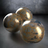 "#UK ""ANTIQUE BRASS - 200E"" Painting Pottery Effect Earthenware Ceramic Glaze"