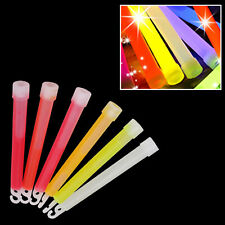 6 Premium Glow Sticks Individually Wrapped 6 Inch Long Party Neon Safety Light