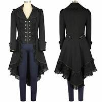 M-2XL Vintage Coat Women Ladies Gothic Victorian Tailcoat Long Jacket Fashion