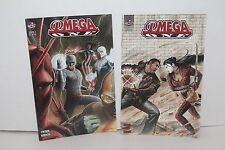 Lot of 2 Big City Comics OMEGA ONE Issue 1 & 2 Books Cintron Kaufman