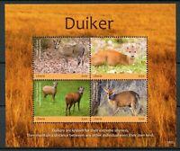 Liberia 2018 MNH Duiker 4v M/S Antelopes Mammals Wild Animals Stamps