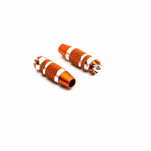 Spektrum Gimbal Stick Ends 24mm Orange with Silver 2 DX6G2 DX7G2