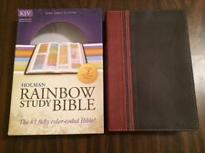 KJV Rainbow Study Bible - Brown / Chestnut Leathertouch - $59.99 Retail