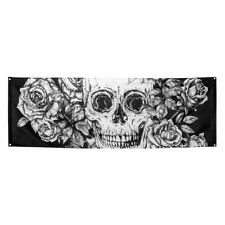 220cm x 74cm Day Of The Dead Sugar Skull Flag Halloween Party Decoration