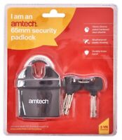 65Mm Pvc Insulated Padlock Durable Long Lasting And Weather Resistant 3 Keys