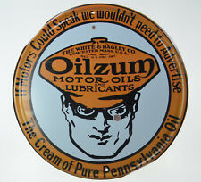"Oilzum Motor Oils Lube Gasoline Petrol Penn Retro Metal Tin Sign Plaque 12"" NEW"