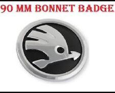Skoda 90mm Badge Bonnet/Boot Logo Sticker Chrome Emblem Fabia Octavia Superb New