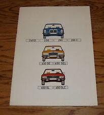 Original 1974 Mercedes Benz Full Line Sales Brochure 74 230 240 280 450
