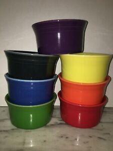 HLC Fiestaware ramekin multi colored fiesta small bowl dip fruit 8oz new