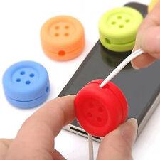 machine à enrouler Silicone protection fil de casque d'écoute bouton mignon