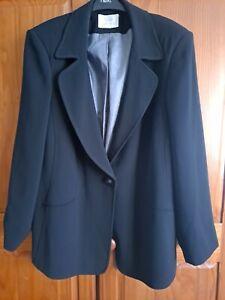 Ladies. Plus Size 22. Ann Harvey Jacket. Colour Black. Excellent condition.